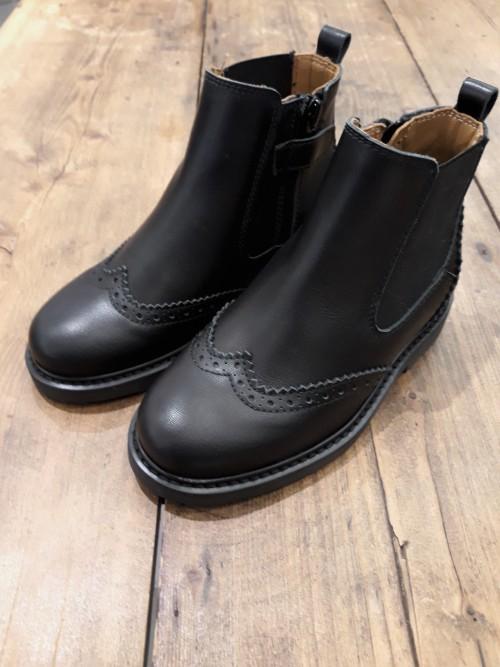 Beberlis Stiefelette schwarz  Glattleder