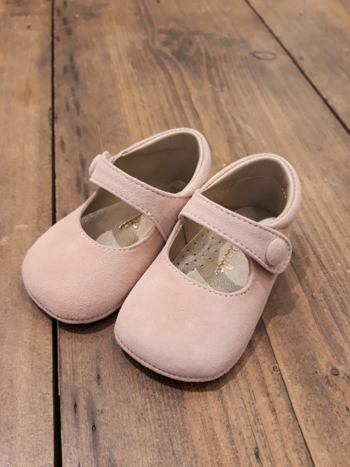 ELI1957 Babyschuhe Spangenschuh rose
