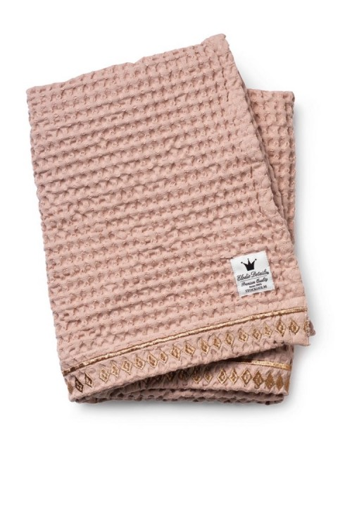 Elodie Details Cotton Waffle Blanket-Gilded powder