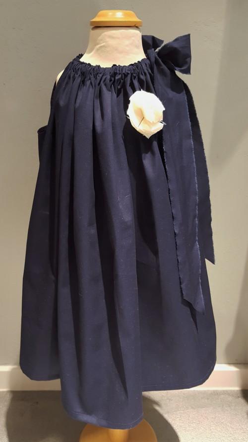 Mädchen-Kleid dunkelblau  von truffleroom